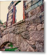 Ruins Of White's Factory - Window Metal Print