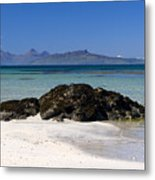 Rum And Eigg From Achateny Beach Metal Print