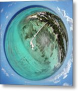 Rum Point Little Planet Metal Print