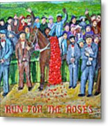 Run For The Roses Metal Print