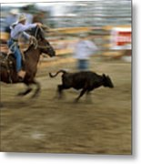 Run Little Doggie Metal Print