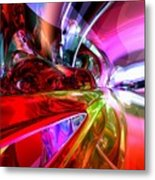 Runaway Color Abstract Metal Print