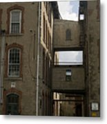 Rundown Alley Metal Print