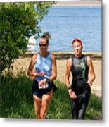 Runners At The 24 Hours Of Triathlon Metal Print