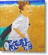 Running Against The Wind Metal Print