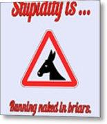 Running Bigstock Donkey 171252860 Metal Print