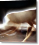 Running Doe Metal Print