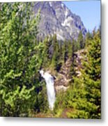 Running Eagle Falls Glacier National Park Metal Print