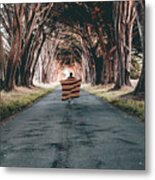 Running In The Forest Metal Print