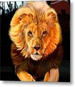 Running Lion Metal Print