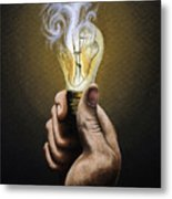 Running Out Of Ideas Metal Print