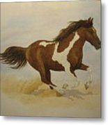 Running Paint Metal Print