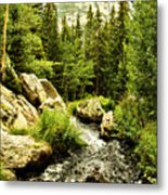 Running River Metal Print