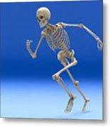 Running Skeleton, Artwork Metal Print