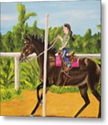 Running The Poles Metal Print