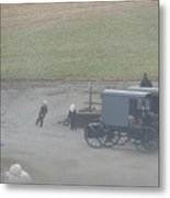 Running To The Buggy Metal Print