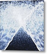 Running Water On Black Background Metal Print