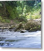 Running Water Metal Print