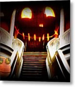 Rupert At The Staircase Metal Print