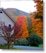 Rural Colorful Autumn Landscape 4 Metal Print