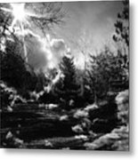 Rural Life In Black And White  Metal Print