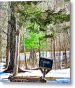 Rural Mailbox In The Snow 1 Metal Print