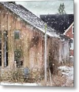 Rural Relic Metal Print