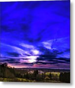 Rural Sunset Panorama Metal Print