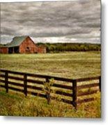 Rural Tennessee Red Barn Metal Print