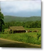 Rural Village Metal Print