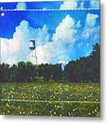 Rural Water Tower Unconventional Metal Print