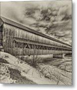 Rusagonish Covered Bridge Metal Print