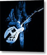 Rush 77 #15 Enhanced In Blue Metal Print