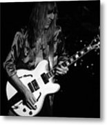 Rush 77 #17 Enhanced Bw Metal Print