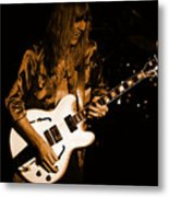 Rush 77 #17 Enhanced In Amber Metal Print