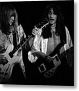 Rush 77 #46 Enhanced Bw Metal Print