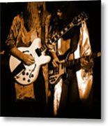 Rush 77 #52 Enhanced In Amber Metal Print
