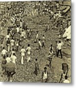 Rush Hour - Antique Sepia Metal Print