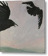 Rush Hour Ravens Metal Print by Amy Reisland-Speer