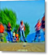 Rush On Skates Metal Print