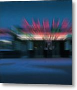 Rush To The Ticket Booth Metal Print