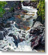 Rushing Waters Metal Print by John Lautermilch