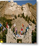 Rushmore State Flags Metal Print