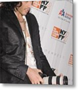 Russell Brand At Arrivals For 48th New Metal Print by Everett