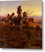 Russell Charles Marion In The Wake Of The Buffalo Hunters Metal Print