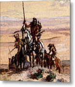 Russell Charles Marion Indians On Plains Metal Print