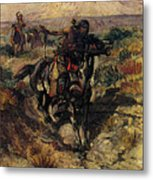 Russell Charles Marion The Scouting Party Metal Print
