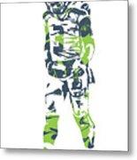 Russell Wilson Seattle Seahawks Pixel Art 11 Metal Print