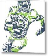 Russell Wilson Seattle Seahawks Pixel Art 12 Metal Print