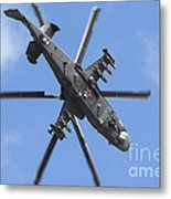 Russian Air Force Ka-52 Helicopter Metal Print